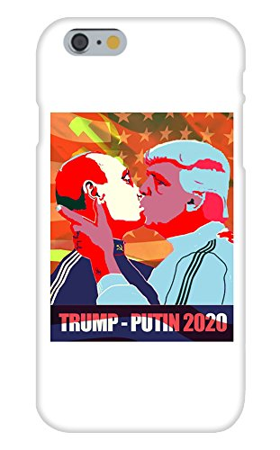 Trump and Putin Kissing - Apple iPhone 6 Custom Case White Plastic Snap On
