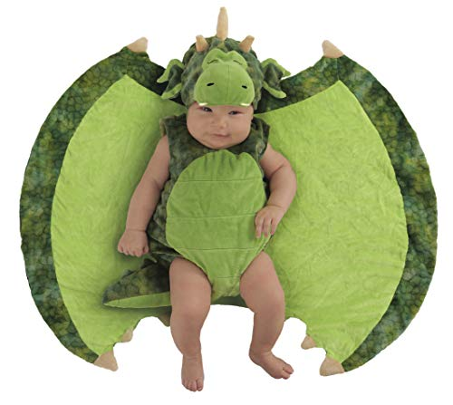 Princess Paradise Baby Swaddle Wings Drooly Drac Deluxe Costume, Darling Dragon, 0/3M]()