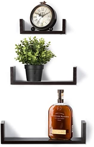 home, kitchen, home décor, home décor accents,  floating shelves 5 picture Floating Shelves Set of 3 Wall Shelves - Espresso promotion