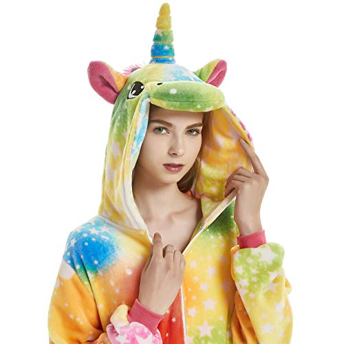 Unisex Adult Pajamas Christmas Costume Snorlax One Piece Pajamas Stitch Onesies Cosplay Rainbow Unicorn S