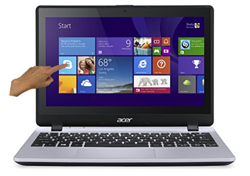 Acer Aspire V3-112P-C2V5 PC Portable Tactile 116 Gris (Intel Celeron 4 Go de RAM Disque dur 500 Go Mise  jour Windows 10 gratuite)