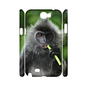 Diy Cute Monkey Phone Case for samsung galaxy note 2 3D Shell Phone JFLIFE(TM) [Pattern-1]