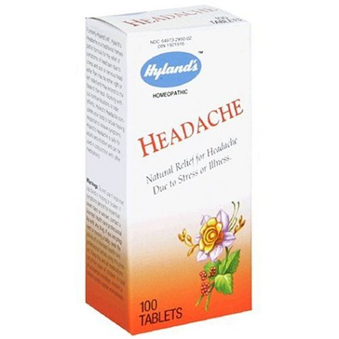 100 Belladonna Tabs (Hyland's Headache Tablets, Natural Relief of Headache, 100% Natural, Acid, Aspirin and Acetaminophen Free Headache Relief Tablets, 100 Count)