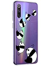 Oihxse Cristal Compatible con OnePlus 7T Pro Funda Ultra-Delgado Silicona TPU Suave Protector Estuche Creativa Patrón Panda Protector Anti-Choque Carcasa Cover(Panda A4)