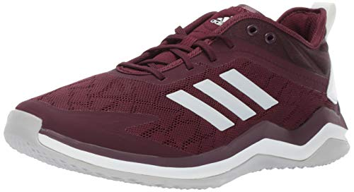 adidas Men's Speed Trainer 4, Maroon/Crystal White/Black, 13.5 M US