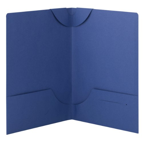 Smead Lockit Two-Pocket File Folder, Up to 50 Sheets, Legal Size, Blue, 25 per Box (87968)