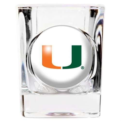 Miami Hurricanes Shot Glass - Square - Hurricane Glass Acrylic