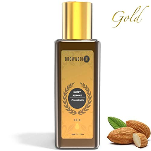 BrownBoi BBGOLD Pure Cold Pressed Sweet Almond Oil For Face Glow Dark Circle & Spot Acne Scars Removal & Brightening…