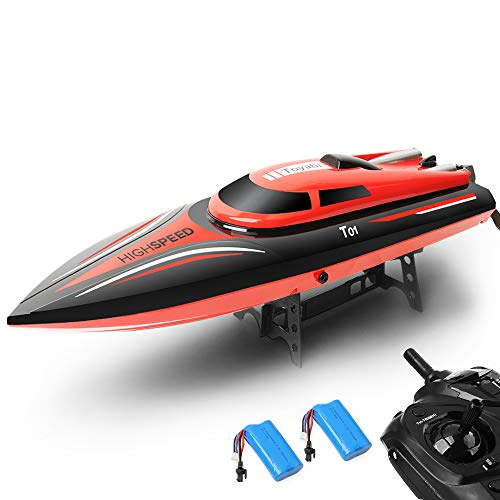 Gizmovine RC High Speed Boat 2.4GHz 20mph Double Battery with Capsize Reset Function Remote Control Toys