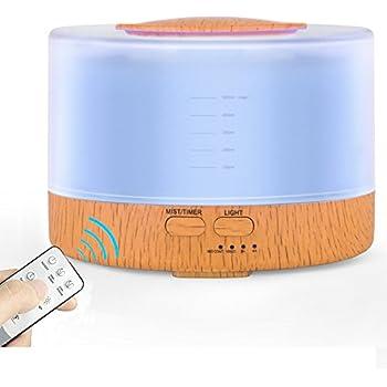 Amazon.com: Remote Control Essential Oil Diffuser, 500ml