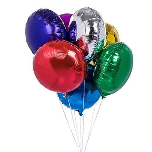 (50pcs/lot Round Shape Foil Mylar Helium Balloon 18
