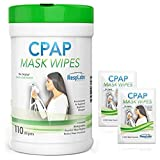 CPAP Mask Cleaning Wipes - 110 Pack + 2 Travel Wipes   The Original Unscented Cleaner for Masks   Equipment & Machine Supplies by RespLabs