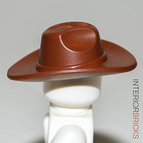 LEGO Minifig, Headgear Hat, Wide Brim Outback Style (Fedora) in Reddish Brown (Hats Lego)