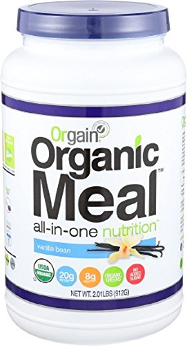 Price comparison product image Orgain Organic Plant Based Meal Powder, Vanilla Bean, 2.01 Pound, 1 Count