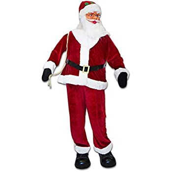 Strong Camel Christmas Life Size Santa Animated Sining and Dancing Santa Claus Xmas Decoration 6FT