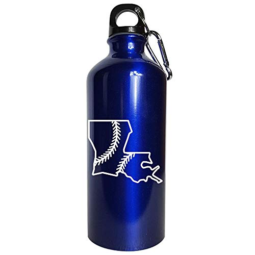 - Louisiana Baseball USA State Pride - Water Bottle Metallic Blue
