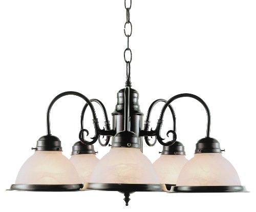 Trans Globe Lighting 1092 ROB Indoor  Baldwin 23″ Chandelier, Rubbed Oil Bronze