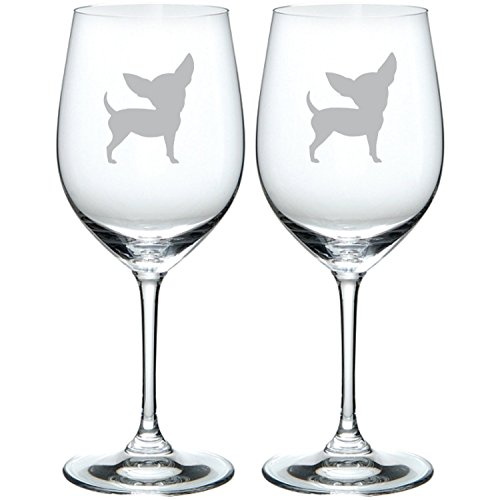 Chihuahua Glass Etched Chihuahua Wine glass/Stemmed/Stemless/Pint/Rocks
