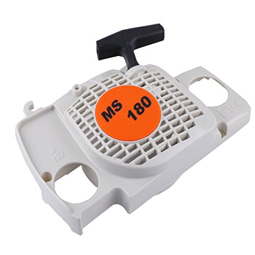 180 Pull - SaferCCTV(TM) New Aftermarket Replacement Rewind Recoil Pull Starter fit for Stihl 017 018 Ms170 Ms180 Chainsaw Replace 1130 080 2100