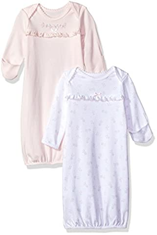 Little Me Baby Newborn 2 Pack Gown, Delicate, 0-3M - Girls Pink Sleeper