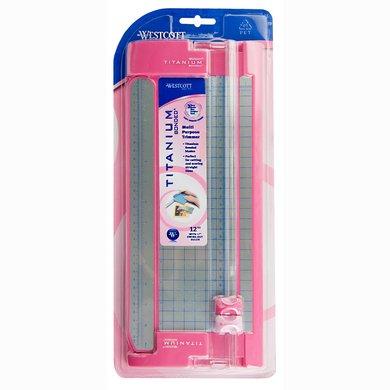 Acme Westcott TrimAir Multipurpose Trimmer, 12-Inch, Pink