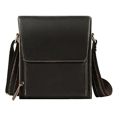 5b67d91c7c3 85%OFF Leathario Men s Leather Shoulder Bag Retro bag Messenger Bag  Crossbody Bag 11 inch