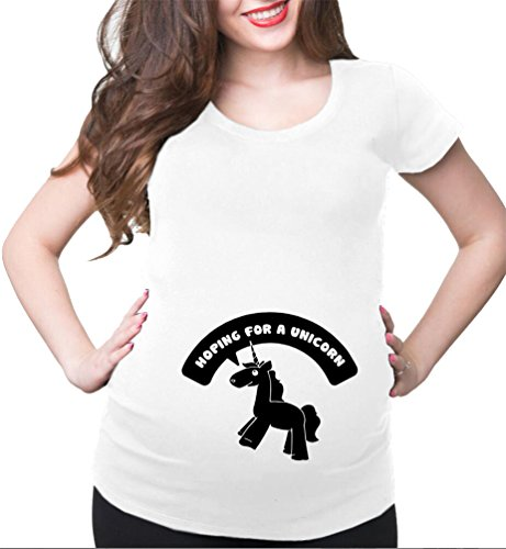 (HappyBerry Women Maternity T Shirt Funny Graphic Tee Cute Tops for Pregnancy White XX-Large)