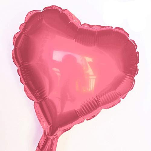 Hemore balón Decorativo balón Rosa en Forma de corazón de 10 ...