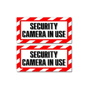 Camera Warning Sticker - 2
