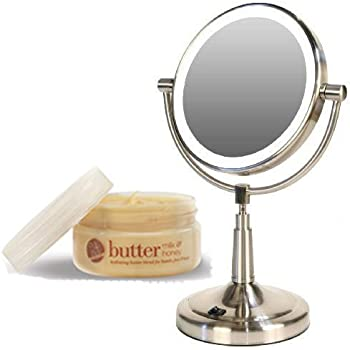 Amazon zadro ledv45 battery powered led lighted vanity mirror zadro ledv45 battery powered led lighted vanity mirror and cuccio milk honey body butter aloadofball Image collections