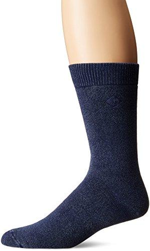 's Solid Salt Wash Full Cushion Crew, Navy, Sock Size: 10-13/Shoe Size:9-11 ()