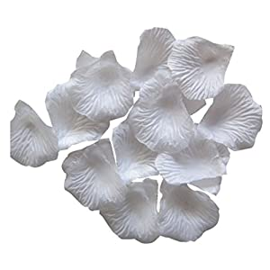Artificial Flowers,Rose Petals Artificial Flower Wedding Favor Bridal Shower Aisle Decor 45mm x 45mm 1000pcs (M, 45mm X 45mm) 36