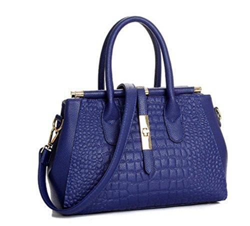 ZXH nuevos bolsos de cuero bolso grande de las señoras de la moda bolsa de hombro bolso diagonal paquete, D B