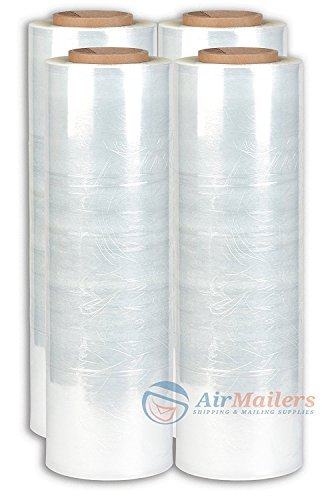 Bravo Pack CST18150 B Stretch Wrap, Heavy Duty, 18'' x 1500', Clear (Pack of 4) by Bravo Pack