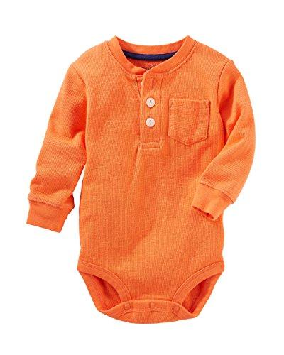 OshKosh B'Gosh Baby Boys' Thermal Pocket Henley Bodysuit 6 Months Baby Boys Thermal Bodysuit