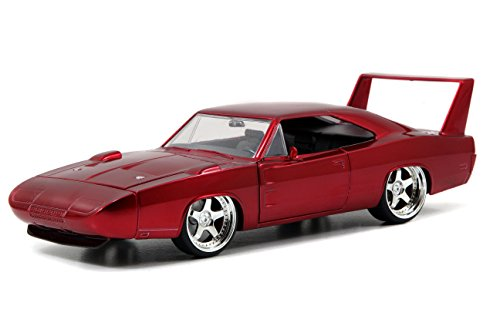 Jada Toys Fast & Furious Dom's Dodge Charger Daytona DIE-CAST Car, 1: 24 Scale Red ()