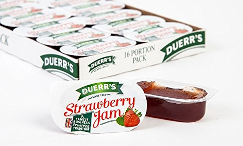 48 X Fresh Strawberry Duerrs Jam Individual Mini 20g Pots Amazon