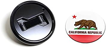 Magnetic Black Grill Badge Holder Combo//Universal Fit//No Tools Required//Weather-Proof And Car-Wash Safe GoBadges BKC028 Flag California