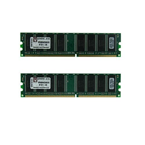 Kingston KVR400X64C3AK2/2G 2GB Kit DDR 2RX8 400mhz PC3200 NON-ECC Low Density Desktop RAM - Pack of 2 (2x1GB)