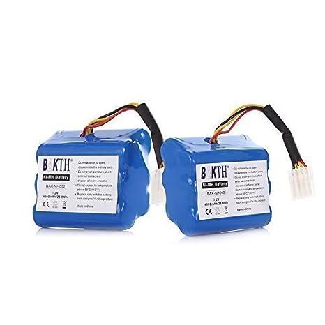 BAKTH 2 Pack de Alta Capacidad 7.2V 4000mAh NiMH Aspirador de la batería de Repuesto