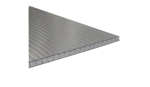 Andreas Ponto - Planchas unilateral con UV - koextrusion, grosor de 6 mm, transparente, 350 x 0, 6 x 210 cm, 425095580138: Amazon.es: Jardín