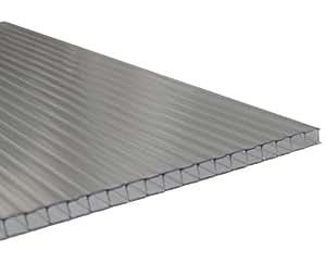 Andreas Ponto–Planchas unilateral con UV–koextrusion, grosor de 6mm, transparente, 400x 0,6x 210cm, 425095580139