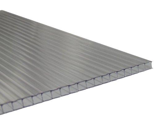 Stegplatten 6mm für Gewächshaus UV klar 1 lfm Breite: 525-695mm incl. Zuschnitt