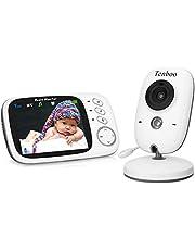 """Vigilabebés Inalambrico Bebé Monitor con cámara 3.2""""LCD visión nocturna sensor de temperatura, NANAS"""