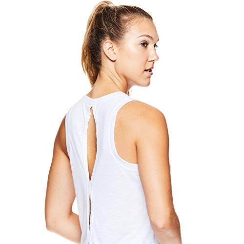 Gaiam Women's Open Back Yoga Tank Top - Sleeveless Racerback Workout & Gym Shirt