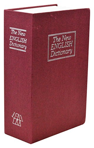 Southern Homewares Small New English Dictionary Hidden Secret Diversion Lock Box Book Safe, Red, 2.1875 x 4.625 x 7.125-inch