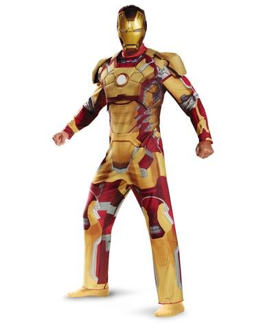 Iron Man Mark 42 Deluxe Costume - X-Large - Chest Size (Iron Man Mark 43 Costume)