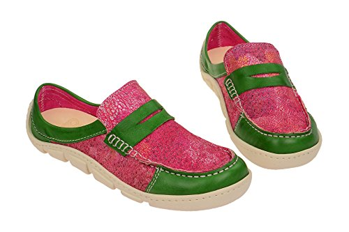 Flats Loafer Green Red Women's 16161 Eject red 1 YgXwnq