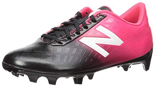 New Balance Boys' Furon V4 Soccer Shoe, Bright Cherry/Black/