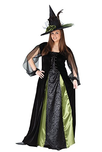 Plus Size Villain Costumes (UHC Goth Maiden Witch Outfit Womens Fancy Dress Halloween Plus Size Costume, Plus (16-24))